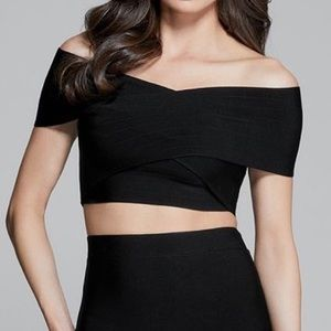 Guess Marciano Jazmine Off-Shoulder Bandage Top